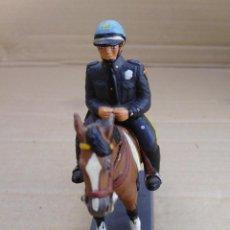 Juguetes Antiguos: POLICIA DE PLOMO A CABALLO DE LA COLECCION DEA BY CASSANDRA LOT.Nº5. Lote 51708674