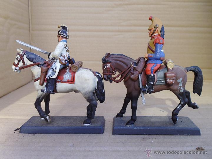 Juguetes Antiguos: dos soldados de plomo a caballo de la casa DeA by Cassandra lot.nº24 - Foto 2 - 51769519