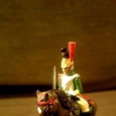 Juguetes Antiguos: SOLDADO DE PLOMO MONTADO A CABALLO -FRENCH IMPERIAL GUARD EMPRESS DRAGOON. Lote 52539010