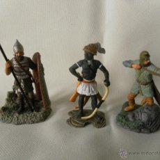 Juguetes Antiguos: LOTE 3 SOLDADOS DE PLOMA MARCA ATLAS. Lote 53714731