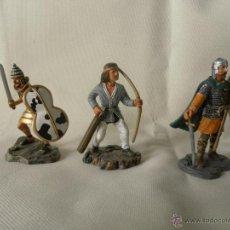Juguetes Antiguos: LOTE 3 SOLDADOS DE PLOMA MARCA ATLAS. Lote 53714760