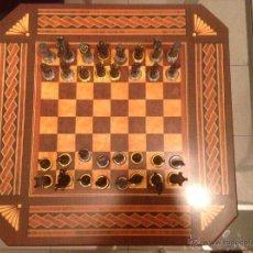 Juguetes Antiguos: -AJEDREZ -CON -FIGURAS O SOLDADOS DE PLOMO-. Lote 54066459
