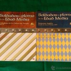 Juguetes Antiguos: FASCICULOS 1 Y 2 SOLDADOS DE PLOMO DE LA EDAD MEDIA - ORDEN DEL TEMPLE Y ARQUERO INGLES. Lote 54396384