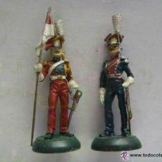 Juguetes Antiguos: LOTE 2 FIGURAS LANCEROS POLACOS AZUL Y ROJO, CABALLERIA , EJERCITO NAPOLEON. DE ALMIRALL - PALOU. Lote 54950257