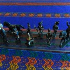 Juguetes Antiguos: LOTE 8 SOLDADOS SOLDADO PLOMO Y 3 CABALLOS PINTADOS A MANO. PRINCIPIOS SIGLO XX.. Lote 55181522