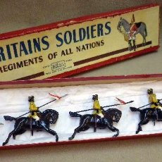 Juguetes Antiguos: ANTIGUA CAJA COMPLETA, BRITAINS SOLDIERS, REGIMENTS OF ALL NATIONS, SKINNER'S HORSE, Nº 47. Lote 55826222