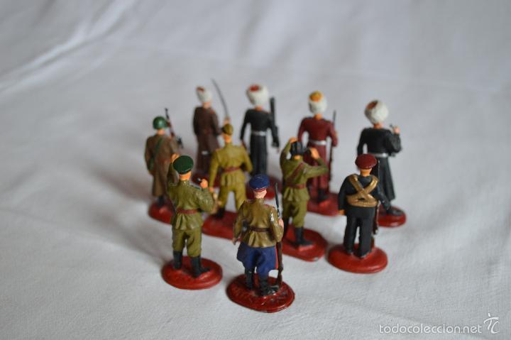 Juguetes Antiguos: Figuras de plomo. Soldados rusos. romanjuguetesymas. - Foto 2 - 55869899