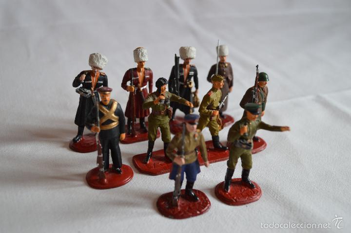 Juguetes Antiguos: Figuras de plomo. Soldados rusos. romanjuguetesymas. - Foto 3 - 55869899