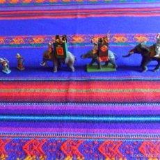 Juguetes Antiguos: LOTE 3 ELEFANTES ELEFANTE PLOMO Y ARQUEROS Y PORTEADORES. MARAVILLOSOS. BUEN ESTADO.. Lote 56634506