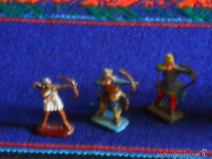 Juguetes Antiguos: LOTE 3 ELEFANTES ELEFANTE PLOMO Y ARQUEROS Y PORTEADORES. MARAVILLOSOS. BUEN ESTADO. - Foto 2 - 56634506