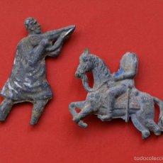 Juguetes Antiguos: LOTE DE 2 ANTIGUAS FIGURAS DE PLOMO.. Lote 57184191