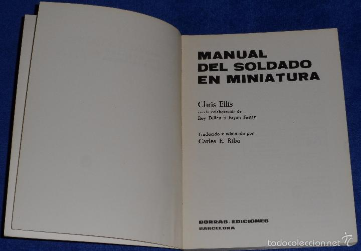 Juguetes Antiguos: Manual del soldado en miniatura - Chris Ellis - Borras Ediciones (1977) - Foto 2 - 171835657