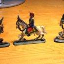 Juguetes Antiguos: 3 SOLDADITOS DE PLOMO ANTIGUOS A CABALLO. Lote 58247449