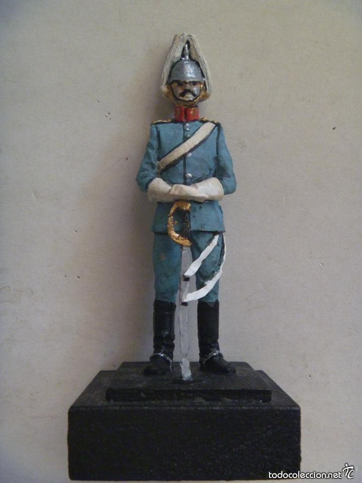 FIGURA CABALLERIA DE ALFONSO XIII . SOLDADO DE CABALLERIA DE GALA CON CASCO Y SABLE .. 11 CM (Juguetes - Soldaditos - Soldaditos de plomo)