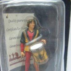 Juguetes Antiguos: ALTAYA - SOLDADO DE PLOMO MEDIEVAL CON TAMBOR. Lote 58404095