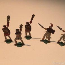 Juguetes Antiguos: LOTE FIGURAS PLANAS PLOMO ROMANOS. Lote 58524505