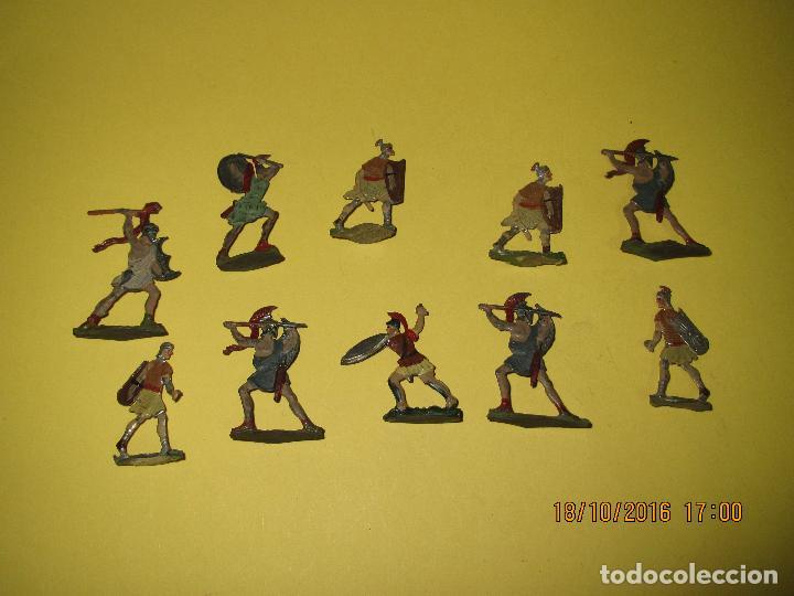 Juguetes Antiguos: Antiguos Soldados de Plomo, Gladiadores y Soldados Romanos - Año 1930-40s. - Foto 2 - 63272776