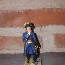 Juguetes Antiguos: NAPOLEÓN BONAPARTE CAMPAÑA DE ITALIA EN PLOMO Y PEANA DE MADERA . Lote 69083567