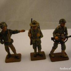 Juguetes Antiguos: LOTE DE 3 SOLDADOS DE PLOMO DEL PRADO , U.S.A. Lote 76644447