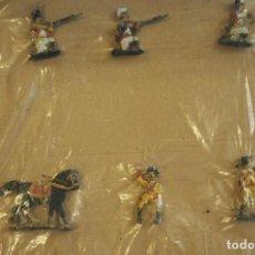 Juguetes Antiguos: LOTE DE 6 FIGURAS SOLDADOS DE PLOMO . PARECEN BASTANTE ANTIGUOS.. Lote 76958553