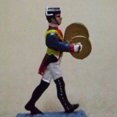 Juguetes Antiguos: GUARDIA CIVIL DE GALA, MUSICO, PLATOS, FIGURA PLANA PLOMO, MALLOL, LEAD FLAT SOLDIER 1980S. Lote 78106085