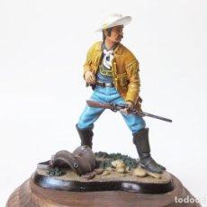 Juguetes Antiguos: FIGURA DE PLOMO ANDREA DE UN OFICIAL DE LA GUERRA CIVIL AMERICANA FIRMADA - COWBOY - 1993. Lote 79590597