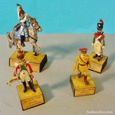 Juguetes Antiguos: 4 SOLDADOS ALMIRALL DE PLOMO. DRAGONES FRANCIA Y EJERCITO NACIONALISTA ESPAÑA.. Lote 80457073