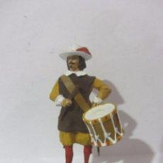 Juguetes Antiguos: TAMBOR DE INFANTERIA 1660 SOLDADOS ESPAÑOLES ESCALA H/54 PINTADO A MANO. Lote 82935684