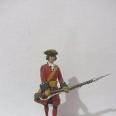 Juguetes Antiguos: FUSILERO TERCIO COLORADOS VIEJOS 1701-1707 SOLDADOS ESPAÑOLES ESCALA H/54 PINTADO A MANO. Lote 82936716