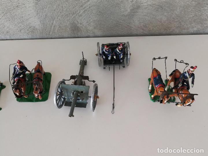 Juguetes Antiguos: TREN DE ARTILLERÍA SOLDADOS DE PLOMO - Foto 2 - 85209136