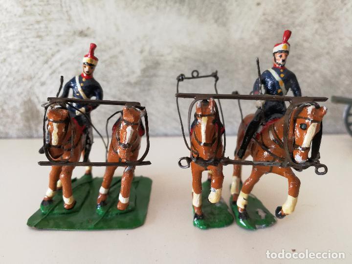 Juguetes Antiguos: TREN DE ARTILLERÍA SOLDADOS DE PLOMO - Foto 3 - 85209136