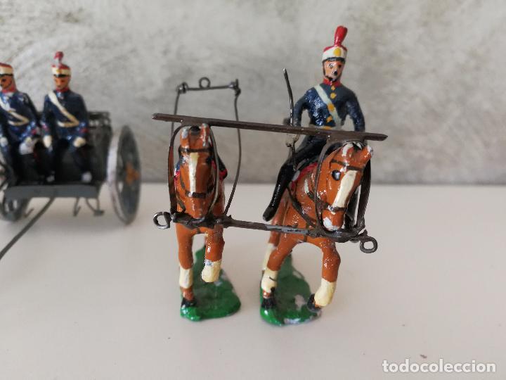 Juguetes Antiguos: TREN DE ARTILLERÍA SOLDADOS DE PLOMO - Foto 7 - 85209136
