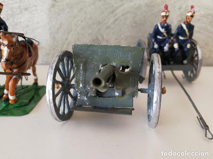 Juguetes Antiguos: TREN DE ARTILLERÍA SOLDADOS DE PLOMO - Foto 14 - 85209136