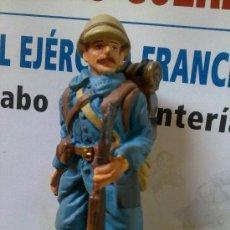 Juguetes Antiguos: SOLDADOS DE PLOMO GUERRAS DEL SIGLO XX - CABO FRANCES - (SOLDADO + FASCICULO DE 15 PAGINAS). Lote 87373504
