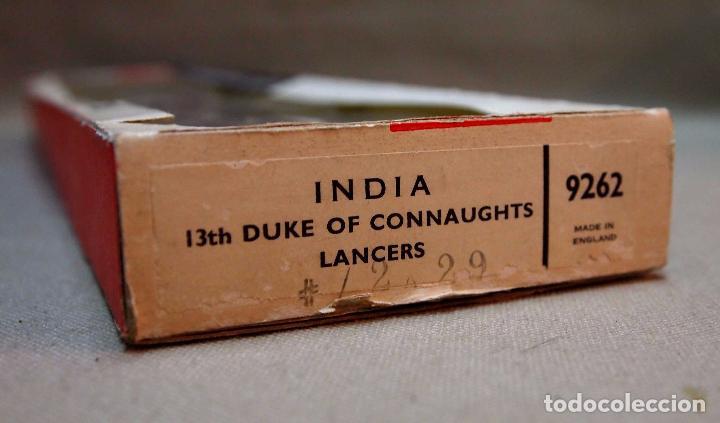 Juguetes Antiguos: ANTIGUA CAJA DE SOLDADITOS DE PLOMO, BRITAINS MODELS, INDIA, 13th DUKE OF CONNAUGHTS LANCERS, # 9262 - Foto 5 - 87504420
