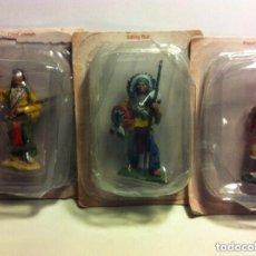 Juguetes Antiguos: INDIOS -LOTE DE 3 (CON SU BLISTER). Lote 92410000