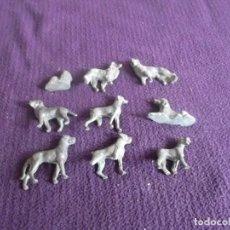 Juguetes Antiguos: LOTE DE ANIMALES DE PLOMO O CALAMINA ANTIGUOS. Lote 95164323