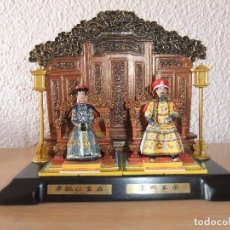 Juguetes Antiguos: DIORAMA EN PLOMO DEL EMPERADOR CHINO KANGXI *DINASTIA QING*. Lote 95554199