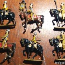 Juguetes Antiguos: 6 SOLDADOS A CABALLO DE MARTE (GARCÍA CASTRESANA). Lote 104325423