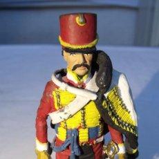 Juguetes Antiguos: TROMPETTE 5 EME RGT. DE HUSSARDS FRANCE 1814. EN PLOMO 90 MM. Lote 104895911