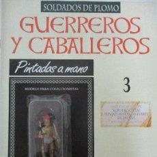 Juguetes Antiguos: SOLDADOS DE PLOMO - GUERREROS Y CABALLEROS - R.B.A. Nº 3 - ETRURIA - CON FASCÍCULO. Lote 105568731