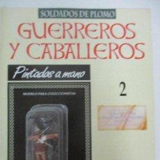 Juguetes Antiguos: SOLDADOS DE PLOMO - GUERREROS Y CABALLEROS - R.B.A. Nº 2 - ASIRIA ARQUERO - CON FASCÍCULO. Lote 105568803