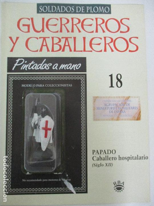SOLDADOS DE PLOMO - GUERREROS Y CABALLEROS - R.B.A. Nº 18 - PAPADO - CON FASCÍCULO (Juguetes - Soldaditos - Soldaditos de plomo)