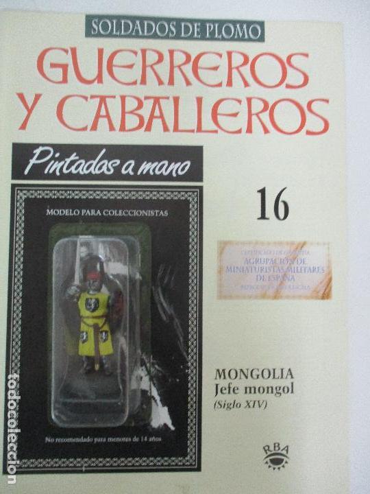 SOLDADOS DE PLOMO - GUERREROS Y CABALLEROS - R.B.A. Nº 16 - MONGOLIA - CON FASCÍCULO (Juguetes - Soldaditos - Soldaditos de plomo)