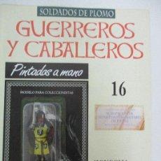 Juguetes Antiguos: SOLDADOS DE PLOMO - GUERREROS Y CABALLEROS - R.B.A. Nº 16 - MONGOLIA - CON FASCÍCULO. Lote 105568987