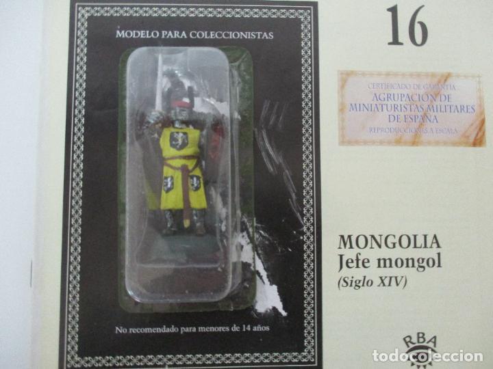 Juguetes Antiguos: Soldados de Plomo - Guerreros y Caballeros - R.B.A. nº 16 - Mongolia - con Fascículo - Foto 5 - 105568987