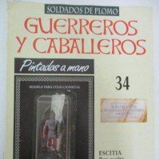 Juguetes Antiguos: SOLDADOS DE PLOMO - GUERREROS Y CABALLEROS - R.B.A. Nº 34 - ESCITIA - CON FASCÍCULO. Lote 105569059