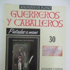 Juguetes Antiguos: SOLDADOS DE PLOMO - GUERREROS Y CABALLEROS - R.B.A. Nº 30 - ESTADOS UNIDOS - CON FASCÍCULO. Lote 105569139
