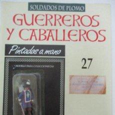Juguetes Antiguos: SOLDADOS DE PLOMO - GUERREROS Y CABALLEROS - R.B.A. Nº 27 - FRANCIA - CON FASCÍCULO. Lote 105569179