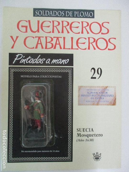 SOLDADOS DE PLOMO - GUERREROS Y CABALLEROS - R.B.A. Nº 29 - SUECIA MOSQUETERO - CON FASCÍCULO (Juguetes - Soldaditos - Soldaditos de plomo)